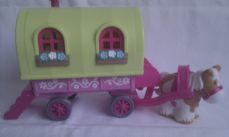 Adorable My 1st Happyland 'Roaming Rose Gypsy Caravan & Horse' Playset